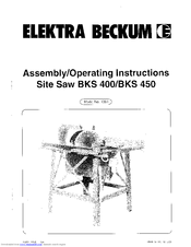 elektra beckum saw owners manuals