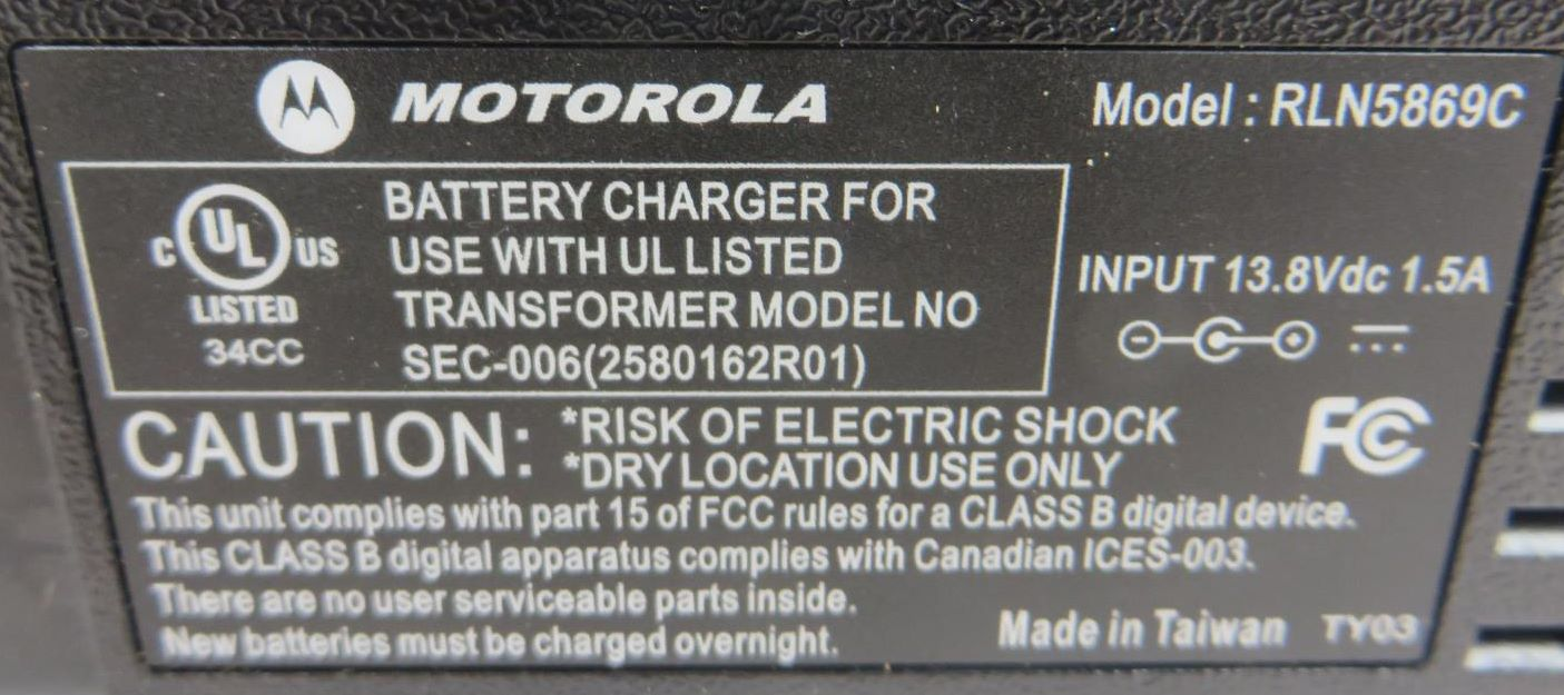 motorola minitor v amplified charger manual