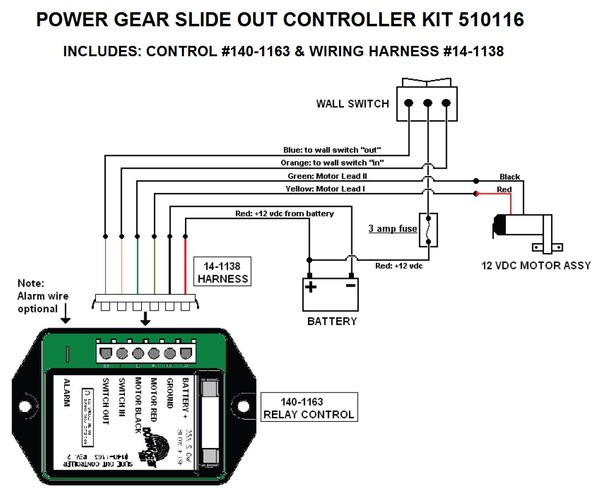 Power gear slide out manual