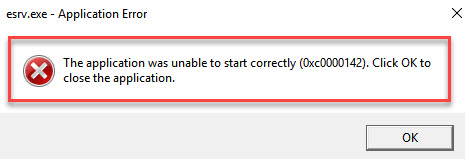 The application was unable to start correctly 0xc000012b windows 10