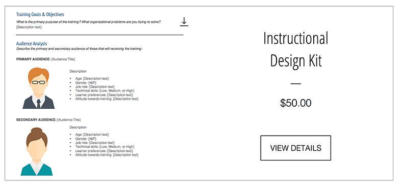 free instructional design templates