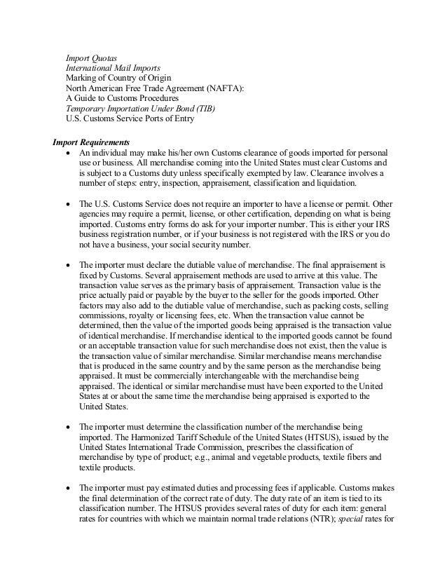 Customs prohibited imports regulations 1956 pdf