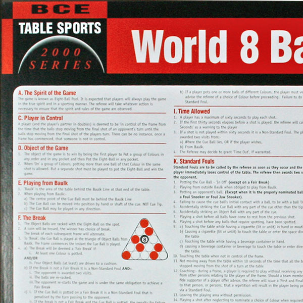 8 ball pool rules pdf