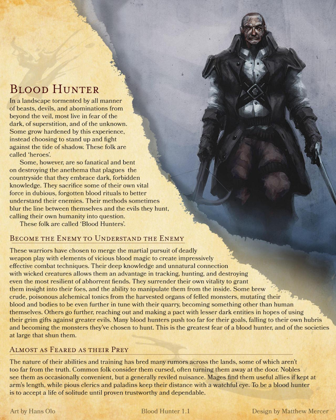 Dnd 5e blood hunter guide
