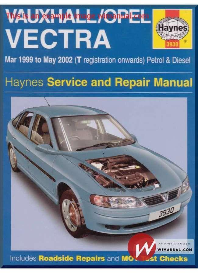 vectra workshop manual free download