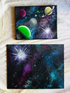 sponge paint a starry sky instructable