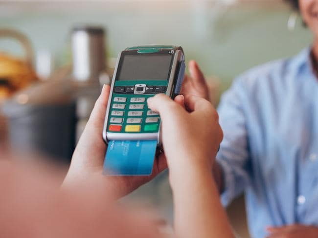 how to enter credit card manually eftpos