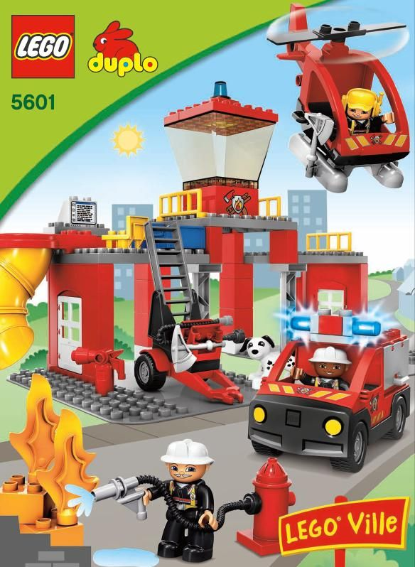 Duplo fire truck 4977 building instructions
