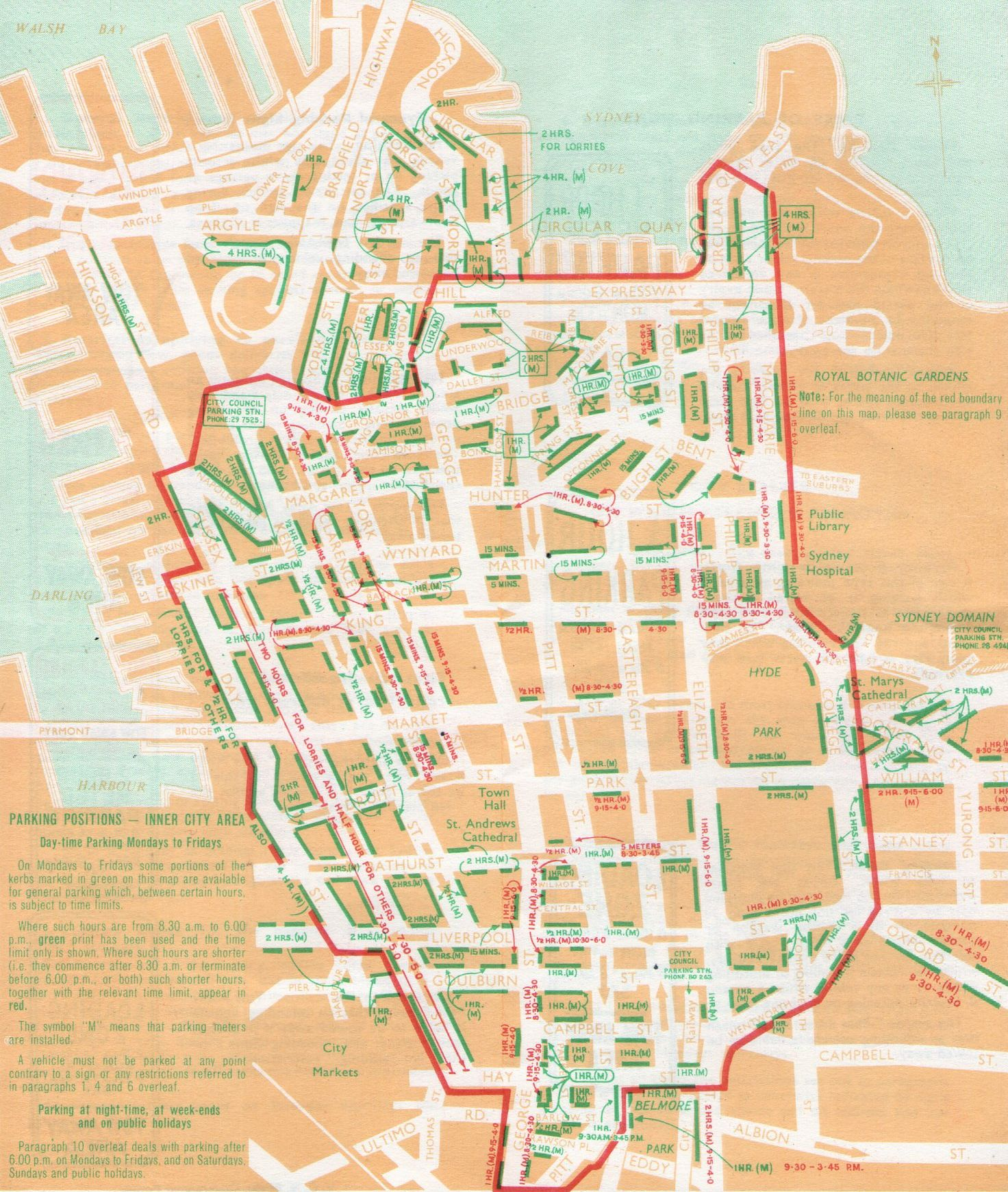 Sydney cbd street map pdf