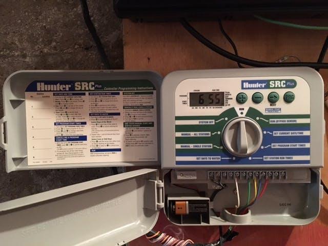 hunter src sprinkler system manual