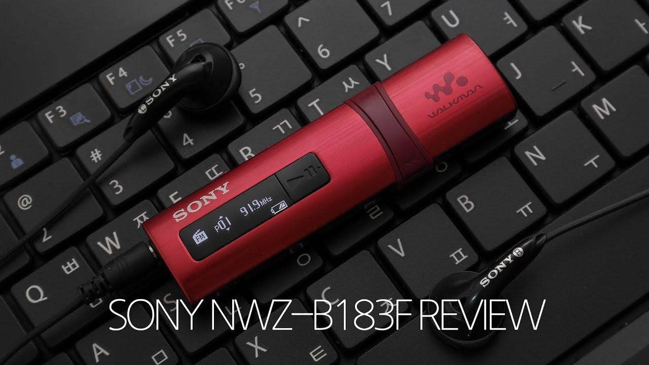 sony walkman 4gb mp3 player nwz b183f manual