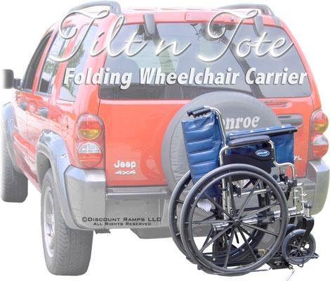 Manual wheelchair carrier for car