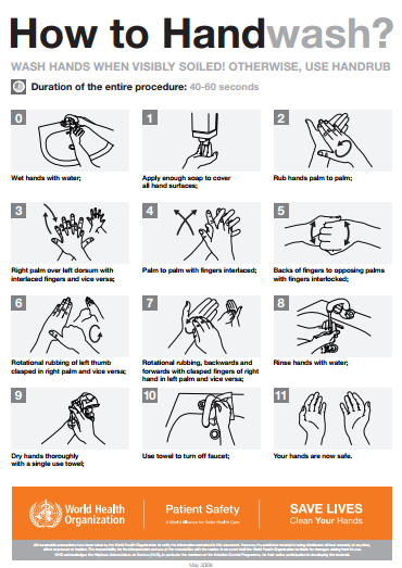 Who hand hygiene guidelines 2017