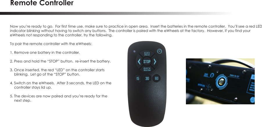 travis industries remote control instructions