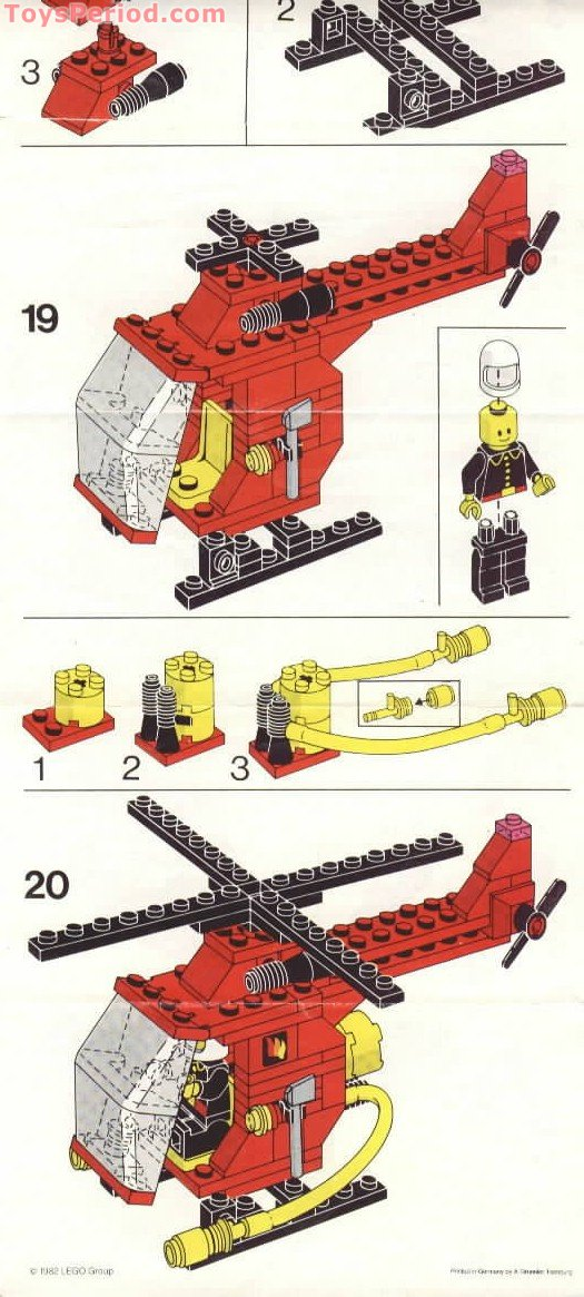 lego junior fire helicopter instructions