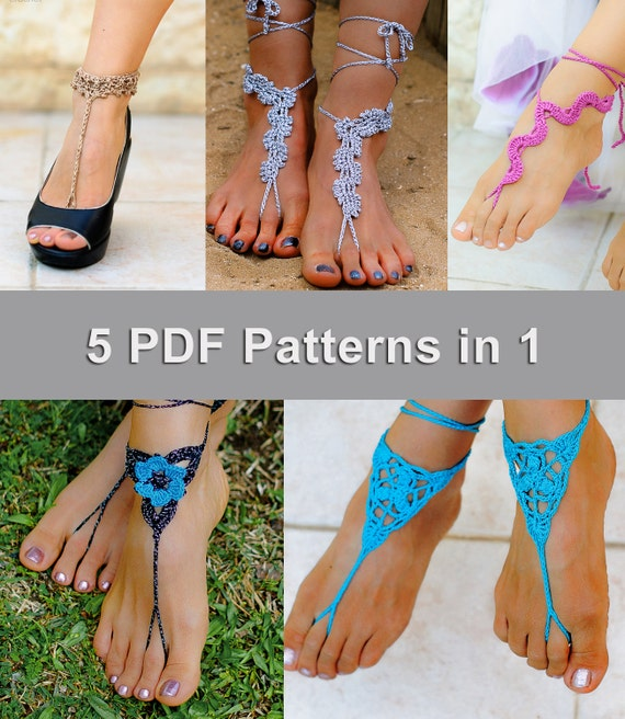 barefoot sandals instructions patterns