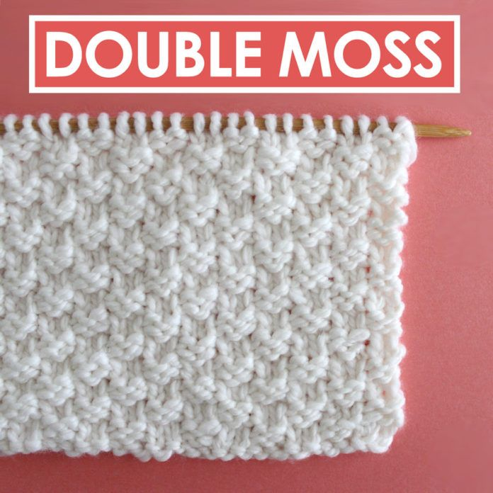 knitting double moss stitch instructions