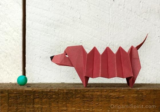 origami dog instructions printable
