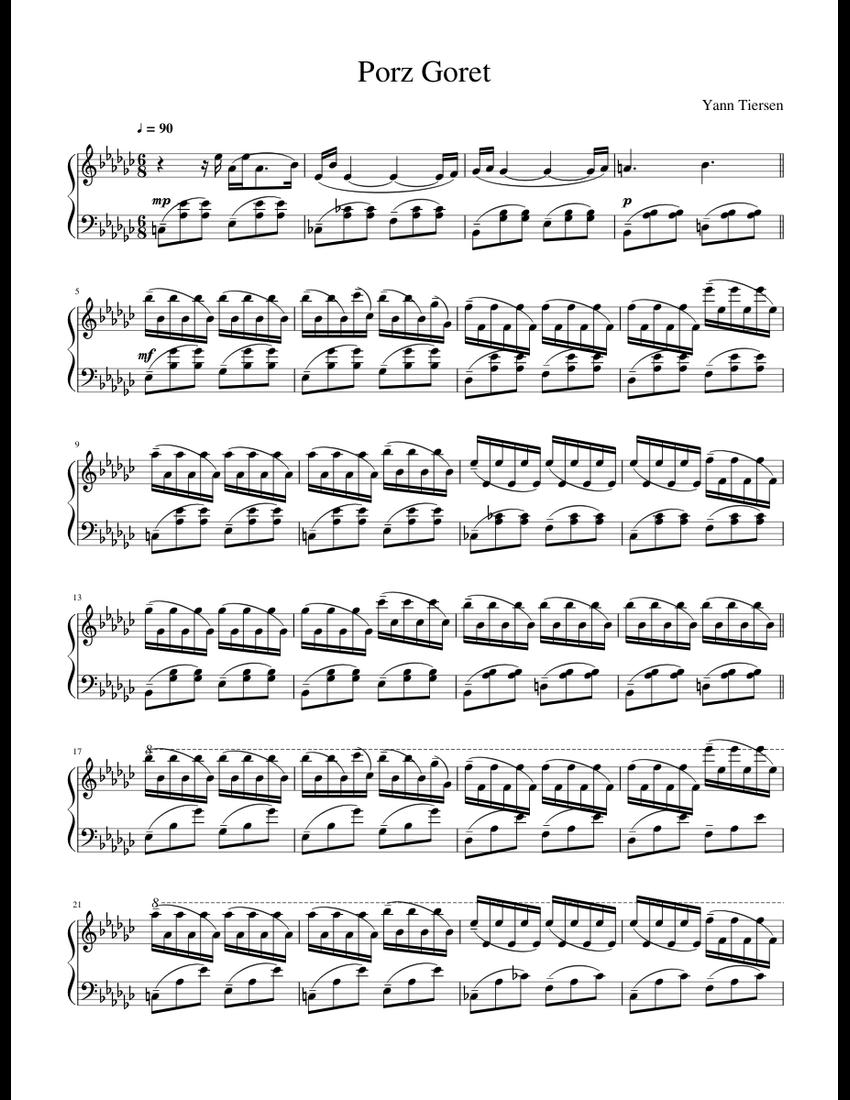 Porz goret sheet music pdf