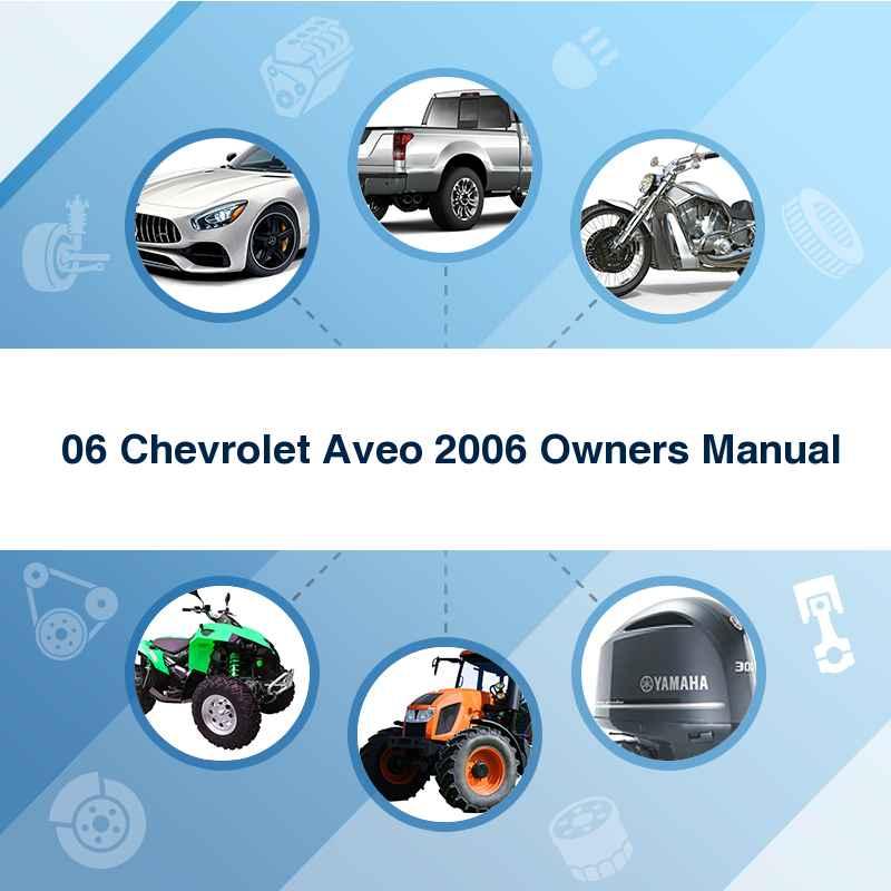 Aveo 2006 repair manual pdf