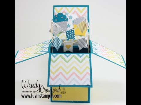 pop up box card instructions