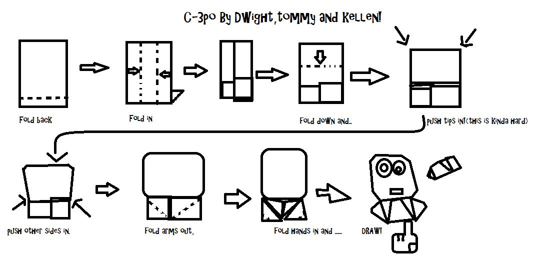 origami yoda r2d2 instructions