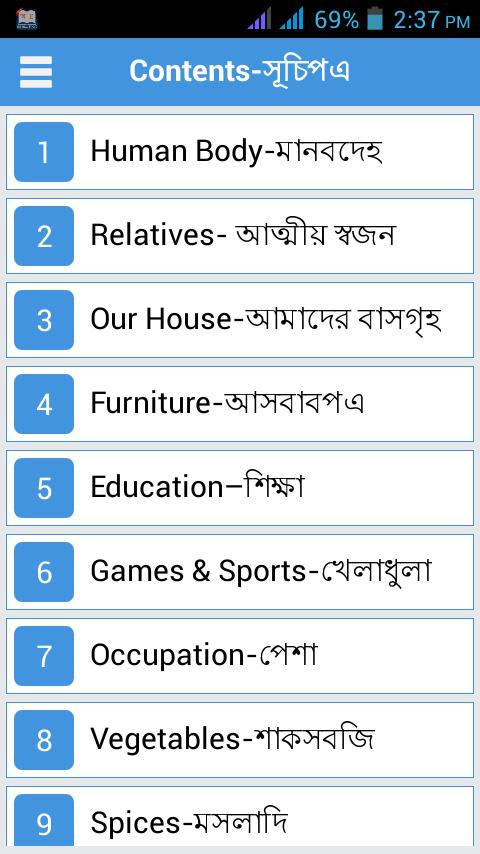 Bengali to english words pdf