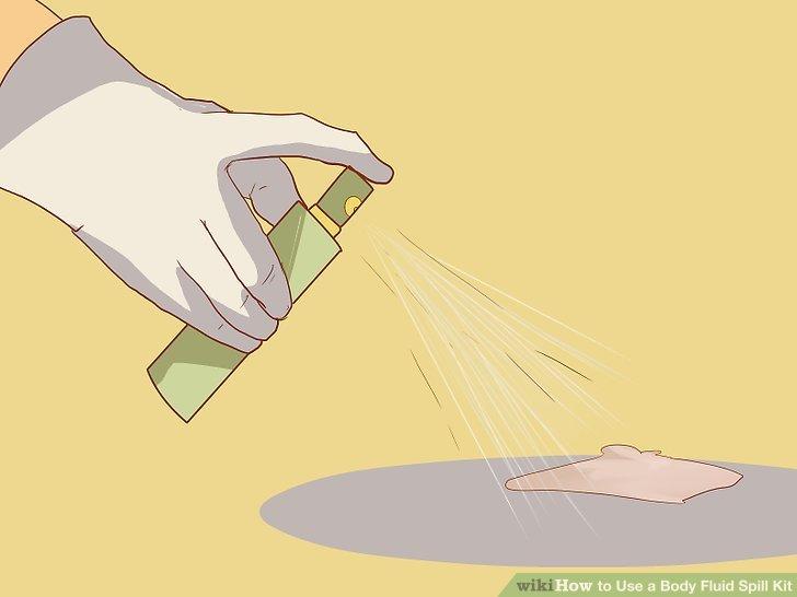 Body fluid spill kit instructions