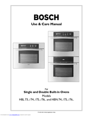 bosch electric oven instruction manual