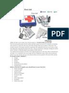 free printable first aid manual