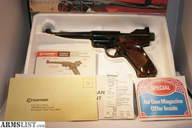Crosman mark 1 target 22 cal pellgun manual