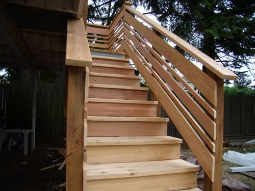 Deck with no railing how to make it nice