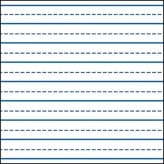 Writing straight lines template pdf