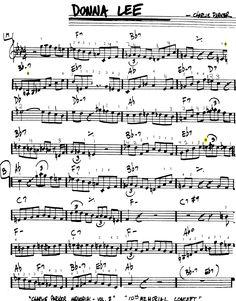 Donna lee sheet music pdf