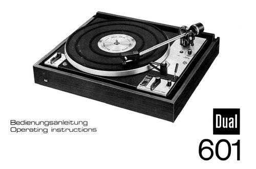 dual 601 turntable service manual
