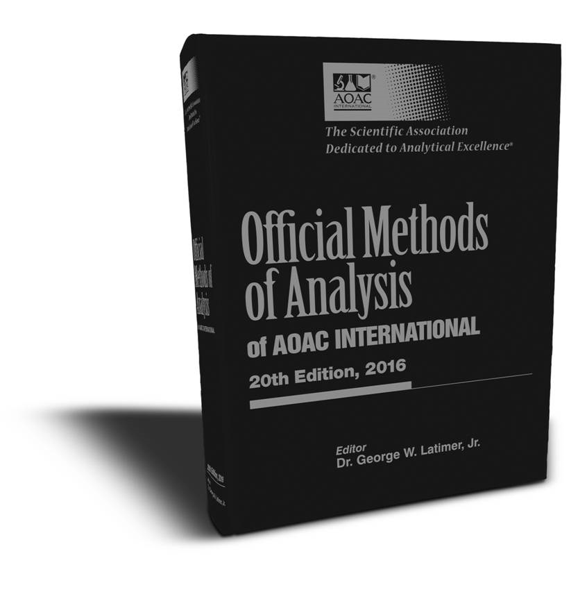 Aoac official methods of analysis pdf