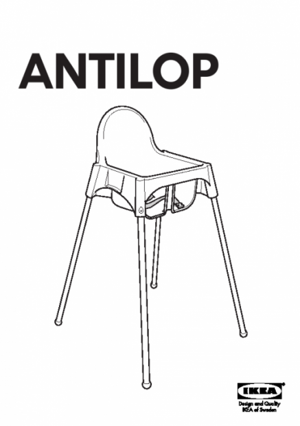 Ikea high chair strap instructions