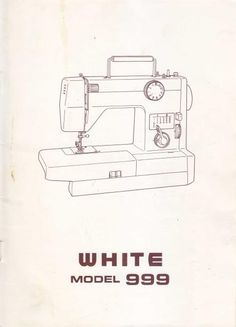 manual maquina de coser white rotary