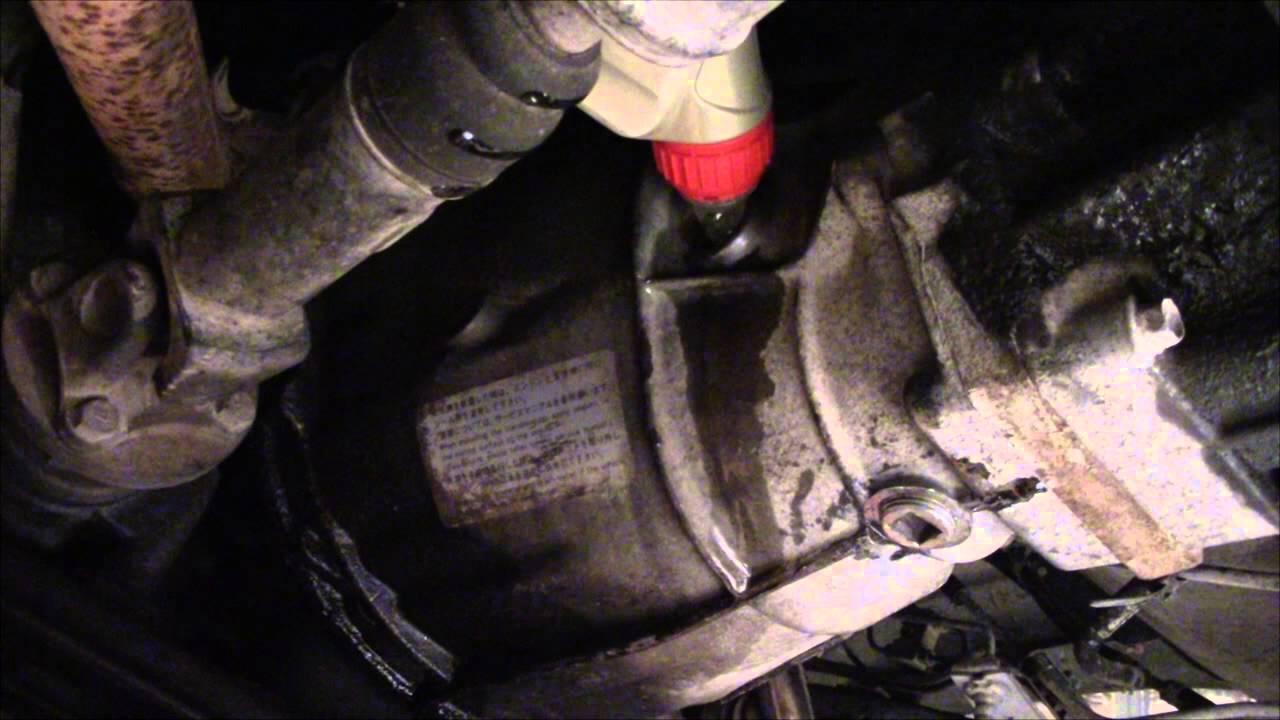Nissan versa manual transmission fluid change