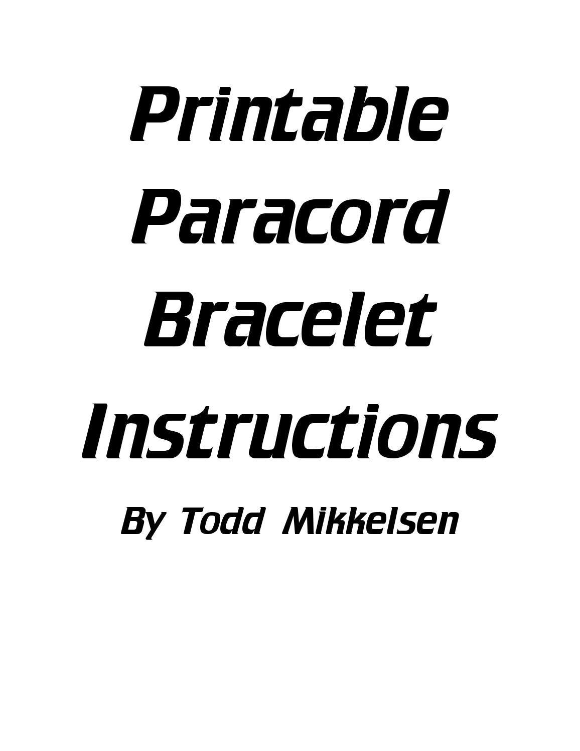 paracord bracelet instructions book pdf