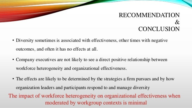 Impact of diversity in the workplace pdf
