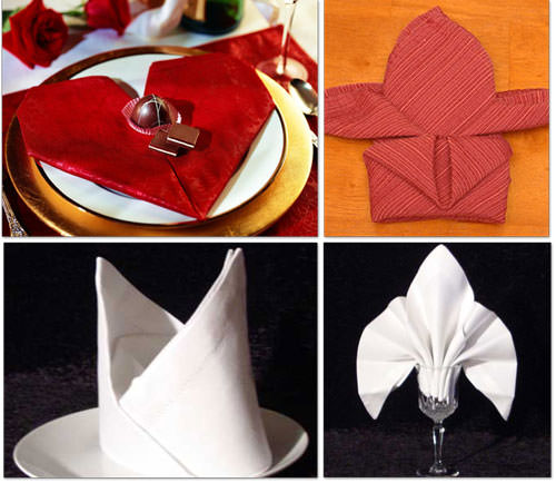 fancy paper napkin folding instructions