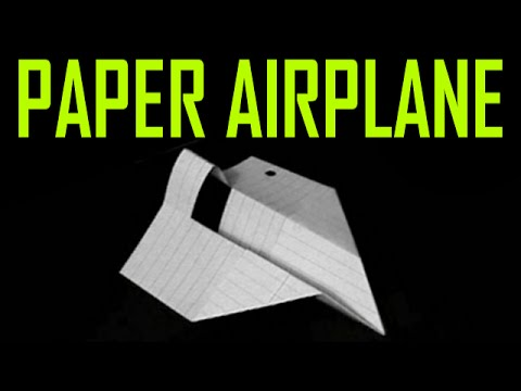 Fastest paper airplane in the world instructions