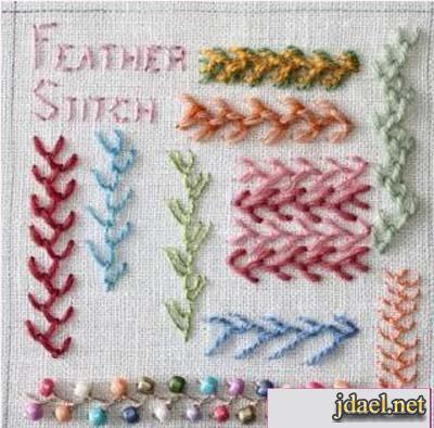 feather stitch embroidery instructions