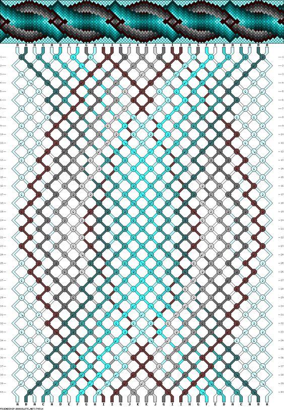 friendship bracelet pattern designs and instructions