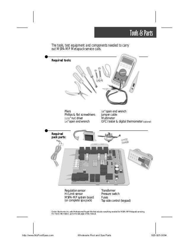 gecko spa pack service manual