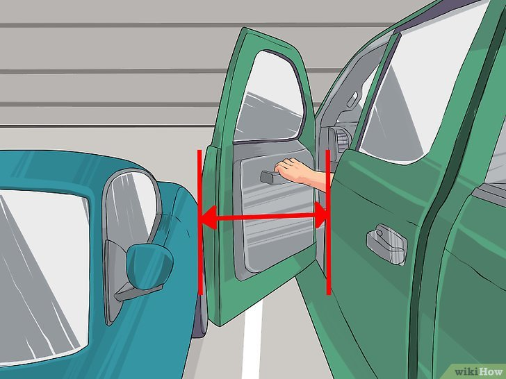 Guide to backing into parking spot