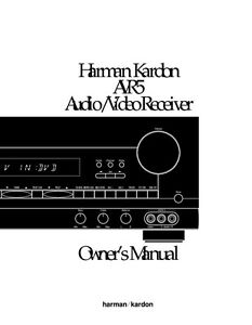Harman kardon avr 525 manual