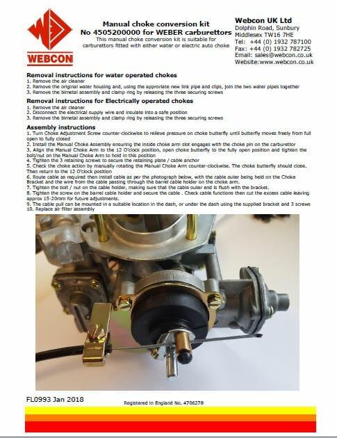 holley manual choke conversion instructions