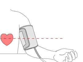 instructions on how to take blood pressure while exercising